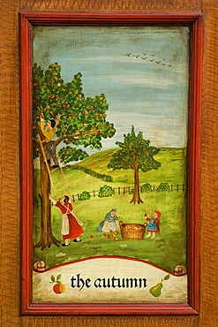Autumn, door panel of a farmer's wardrobe painted with the four seasons