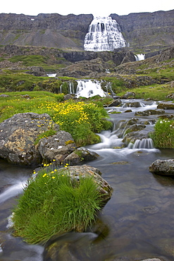 Fjallfoss Falls, Dynjandi, Westfjords, Iceland, North Atlantic