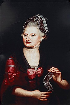 Portrait of Mozart's mother, Mozarthouse St. Gilgen by the Wolfgangsee, birth house of Mozart's mother, Salzburg, Austria