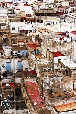 View over the roofs, rooftops of Cadiz, Andalusia, Spain