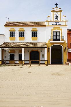 House of the congregation from Jerez de la Frontera, El Rocio, Andalusia, Spain, Europe