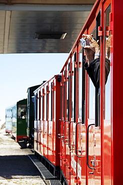 The Schafbergbahn, cog railway on the Schafberg mountain, Salzburg, Austria, Europe