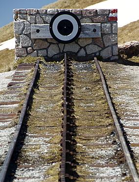End of the cog railway, the Schafbergbahn, Salzburg, Austria, Europe