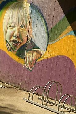 The foyer of a residential building in Berlin Kreuzberg is arranged by Graffiti. (Daisy, Lake, Stek, Kobo, Marko by www.graco-berlin.de)