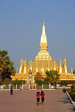 State symbol, Great Stupa Pha That Luang, Vientiane, Laos, Asia