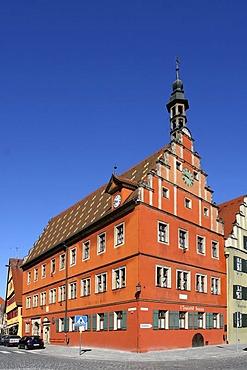 The Gustav-Adolf-House in Dinkelsbuehl, Bavaria, Germany