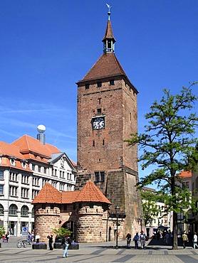 The white gate of Nuremberg, Middle Franconia, Bavaria, Germany
