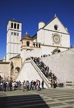 The Basilica of San Francesco d'Assisi, Assisi, Umbria, Italy