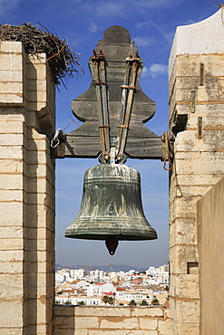 Bell of Se Cathedral, Sedos Episcopalis, Faro, Algarve, Portugal