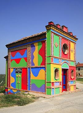 Cappella della S.S. Madonna delle Grazie, Cappella delle Brunata, Langhe, Piedmont, Italy, Europe