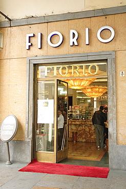 Fiorio, Turin's most famous ice cream parlour, on Via Po Street, Turin, Piedmont, Italy, Europe
