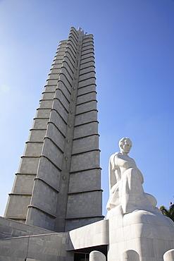 Jose Marti memorial at Plaza de la Revolucion (Revolution Square), Havana, Cuba, Caribbean