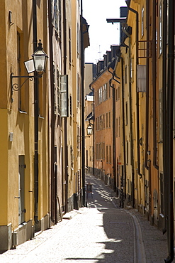 Alley, Gamla Stan, historic city centre of Stockholm, Sweden, Scandinavia, Europe