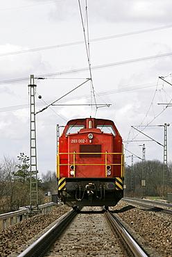 Shunting locomotive, model 203 on rails