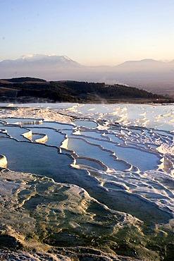 Pamukkale - white travertine terraces