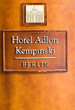 Hotel Adlon, Berlin, Germany