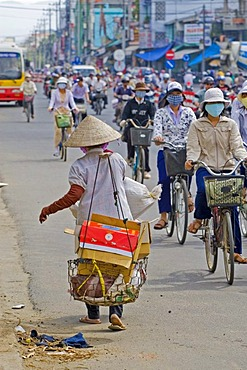 Typical traffic in Nha Trang, Vietnam, Asia