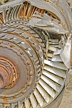 Damaged turbine of B 52 Bomber