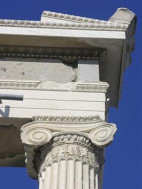 Detail Erechtheion temple Acropolis Athens Greece