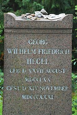 Grave of Georg Friedrich Wilhelm Hegel Dorotheenstaedtischer Friedhof Berlin Germany
