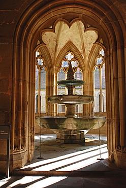 Fountain Cistercian monastery Maulbronn Baden Wuerttemberg Germany