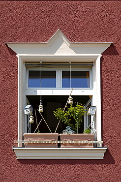 Window decorated with flowers