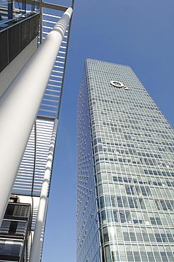 Uptown, skyscraper office block, headquarters of 02, Munich, Upper Bavaria, Germany, Europe