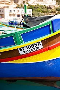 Fishing boat, Mgarr, Gozo, Malta, Europe