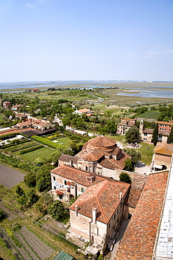 View from Campanile of Cathedral of Santa Maria Assunta on Torcello Island, Lagoon, Venice, Italy, Europe