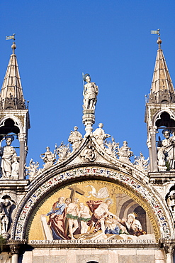 Mosaic on Basilica di San Marco, St. Mark's Basilica, Venezia, Venice, Italy, Europe