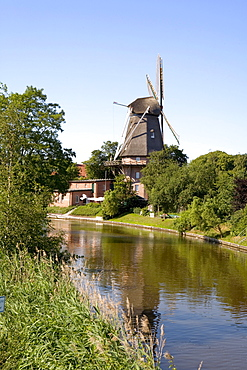Windmill in Hinte near Emden, East Frisia, Lower Saxony, Germany, Europe