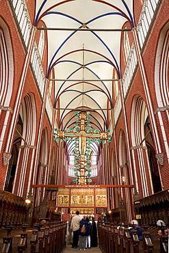 Interior of Bad Doberan Minster, Baltic Sea, Mecklenburg-Western Pomerania, Germany, Europe