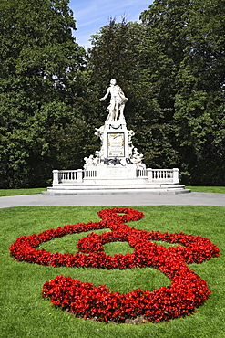 Mozart Memorial, Burggarten Park, Vienna, Austria, Europe