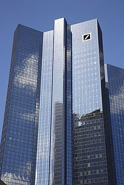Deutsche Bank, office tower block, corporate headquarters, Frankfurt am Main, Hesse, Germany, Europe