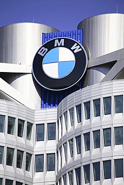 BMW headquarters, BMW Tower four-cylinder, Munich, Germany