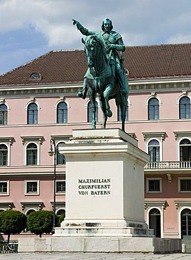 Momument of Maximilian, elector of Bavaria, in front of Siemens headquarters, Munich, Bavaria, Germany