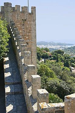 Castle Castell de Capdepera, castellated battlement, Capdepera, Balearic Islands, Majorca