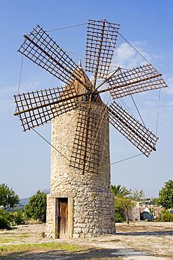 Old windmill near Montuiri, Majorca, Balearic Islands, Spain