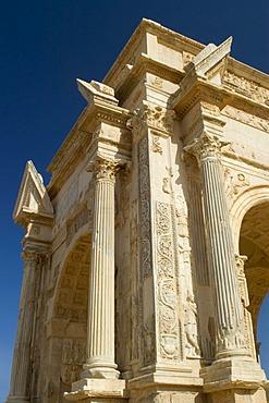 Triumph arch of Septimus Severus Leptis Magna
