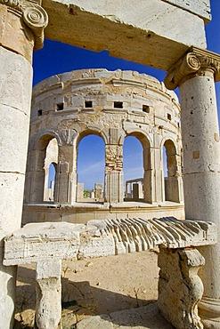 Roman market square at Leptis Magna, Libya