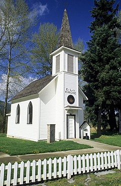 German protestant church in the village of Elbe near Mount Rainier