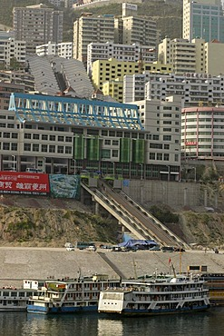 New, modern and higher built city along the Yangtze river, China