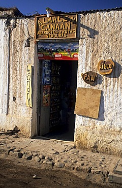 Streetscape in San Pedro de Atacama, Chile