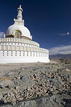 Shanti Stupa in Leh, Ladakh, Jammu and Kashmir, India