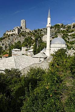 Historic osman trade city of Pocitelj at Neretva river, Bosnia and Herzegovina