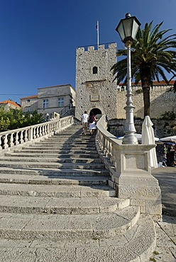 Historic city of Korcula, birth place of Marco Polo, Korcula island, Dalmatia, Croatia