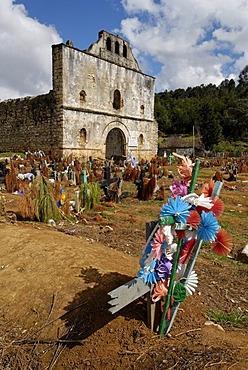 Indian cemetery of San San Juan Chamula, Chiapas, Mexico
