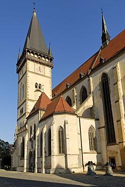 St Egidia church at the city square of Bardejov, Unesco World Heritage Site, Slovakia