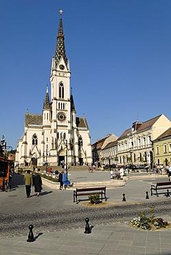Historic old town of Koeszeg, Hungaria