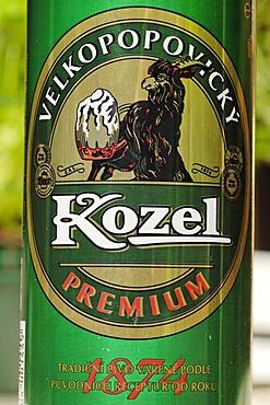 Czech beer can, Kozel beer from the Czech Republic